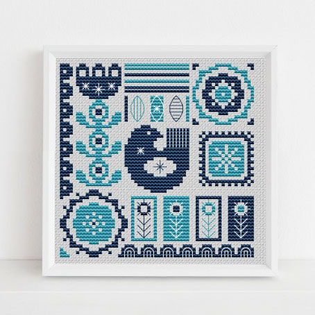 Scandi inspired cross stitch patterns by Lucie Heaton Cross Stitch Designs