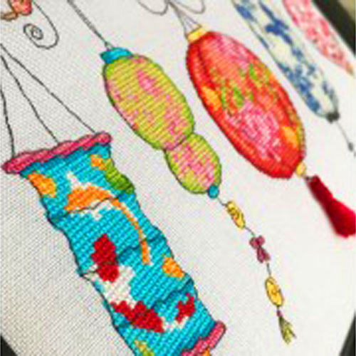 Chinese inspired cross stitch patterns by Lucie Heaton Cross Stitch Designs
