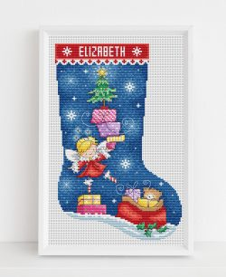 Fairy Stocking Cross Stitch Pattern