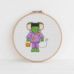 Furry Tales Frankenstein Mouse Cross Stitch Pattern