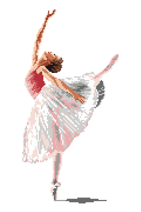 competitive price b57bc 52ff4 Ballerina Cross Stitch Pattern