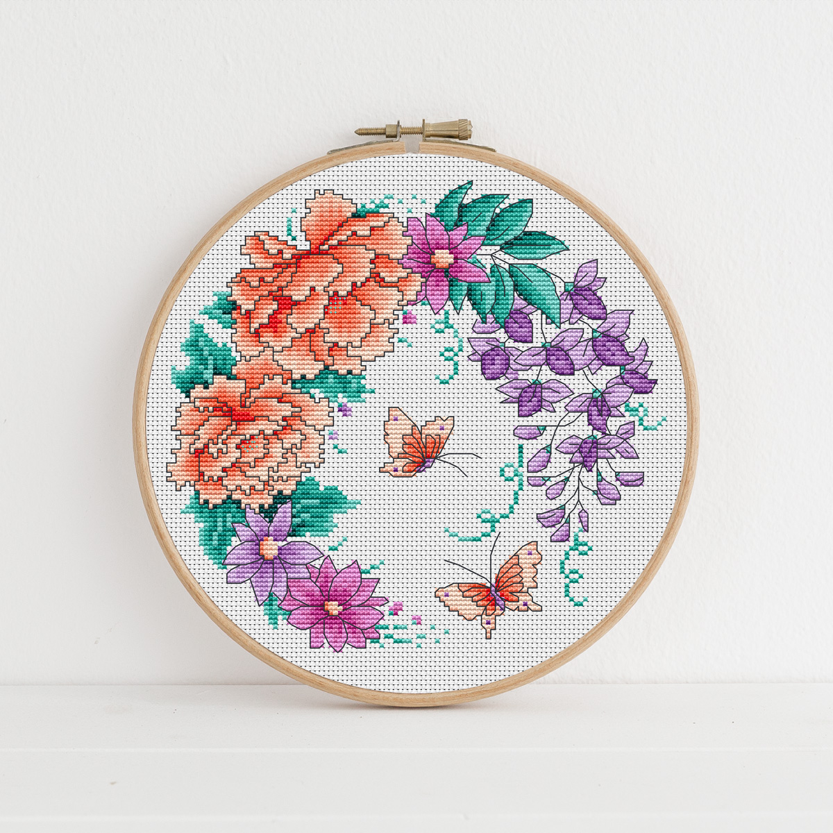 Floral & nature cross stitch patterns by Lucie Heaton Cross Stitch Designs