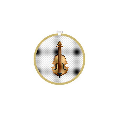Motif Violin Cross Stitch Pattern