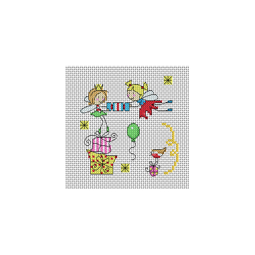 Fairy Christmas Cards Cross Stitch Pattern